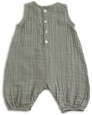 Numero 74 Stef Combi Baby One Piece, Silver Grey - 100% cotton (3-6 months) Dungarees