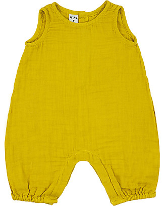Numero 74 Stef Combi Baby One Piece, Sunflower Yellow - 100% cotton (3-6 months) Dungarees