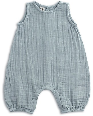Numero 74 Stef Combi Baby One Piece, Sweet Blue - 100% cotton (9-12 months) Dungarees