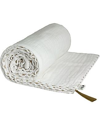 Numero 74 Summer Blanket White - Cotton Muslin 110 x 160 Blankets