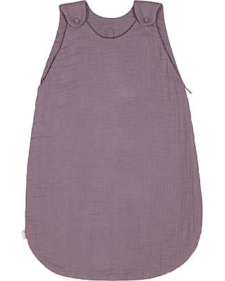 Numero 74 Summer Sleeping Bag, 6-12 mesi, Dusty Lilac – 100% Cotton, 75cm Light Sleeping Bags