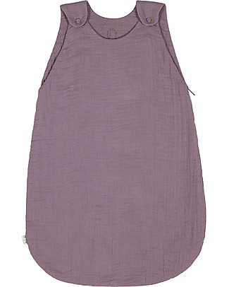 Numero 74 Summer Sleeping Bag, 6-12 mesi, Dusty Lilac - 100% Cotton, 75cm Light Sleeping Bags