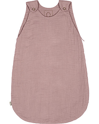 Numero 74 Summer Sleeping Bag, 6-12 months, Dusty Pink - 100% Cotton, 75cm Light Sleeping Bags