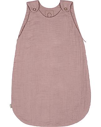 Numero 74 Summer Sleeping Bag, 6-12 months, Dusty Pink - 100% Cotton, 75cm Light Sleeping Bags