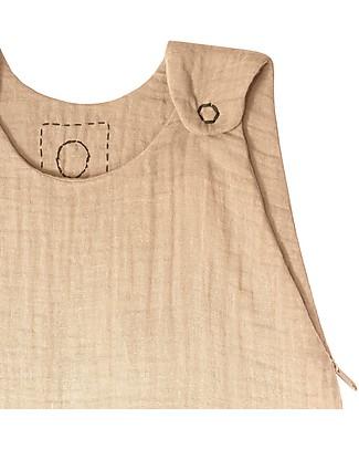 Numero 74 Summer Sleeping Bag, 6-12 months, Pale Peach – 100% Cotton, 75 cm Light Sleeping Bags