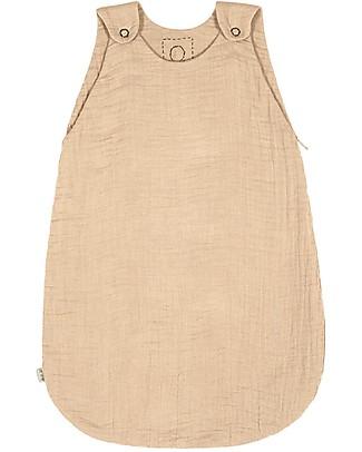 Numero 74 Summer Sleeping Bag, 6-12 months, Pale Peach - 100% Cotton, 75 cm Light Sleeping Bags