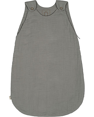 Numero 74 Summer Sleeping Bag, 6-12 months, Silver Grey - 100% Cotton, 75cm Light Sleeping Bags