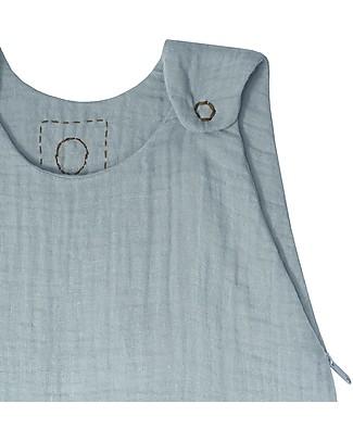 Numero 74 Summer Sleeping Bag, 6-12 months, Sweet Blue – 100% Cotton, 75 cm Light Sleeping Bags