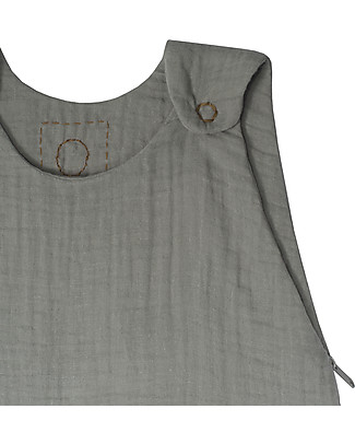 Numero 74 Summer Sleeping Bag, 9-18 months, Silver Grey – 100% Cotton, 85cm Light Sleeping Bags