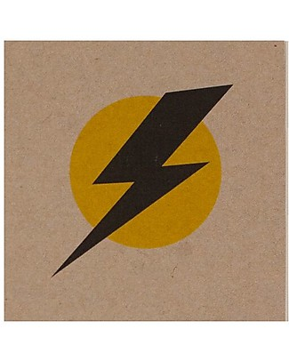 Numero 74 Super Hero Notebook, Flash on Yellow Background - Perfect party favour Party Favours