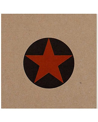 Numero 74 Super Hero Notebook, Orange star - Perfect party favour Party Favours