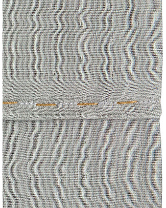 Numero 74 Top Flat Bed Sheet, Silver Grey with Golden Embroidery - 110x170 cm - 100% cotton double saloo Bed Sheets