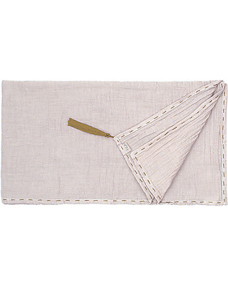 Numero 74 Towel 110 x 190 cm, Powder/Gold Embroidery - 100% cotton Towels And Flannels
