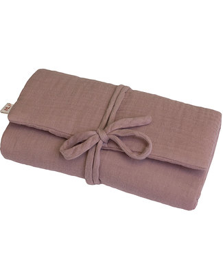 Numero 74 Travel Changing Pad - Dusty PInk - Cotton Muslin Travel Changing Mats
