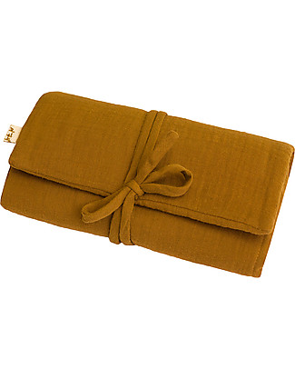 Numero 74 Travel Changing Pad - Gold - Cotton Muslin Travel Changing Mats