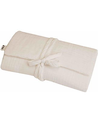 Numero 74 Travel Changing Pad - Natural - 100% Cotton Muslin Travel Changing Mats