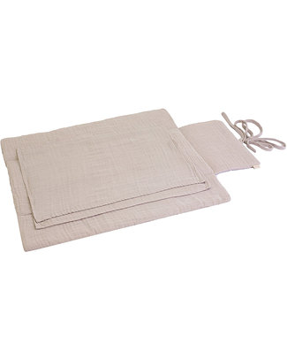 Numero 74 Travel Changing Pad - Powder - 100% Cotton Muslin Travel Changing Mats
