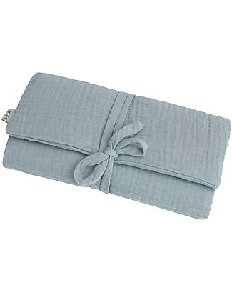 Numero 74 Travel Changing Pad - Sweet blue - 100% Cotton Muslin Travel Changing Mats