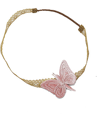 Numero 74 Velvet Butterfly Headband - Dusty Pink - New Bohemian Collection Hair Accessories