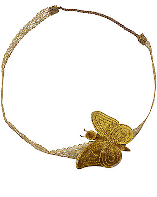 Numero 74 Velvet Butterfly Headband - Gold - New Bohemian Collection Hair Accessories