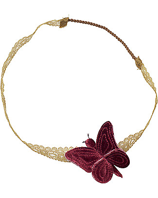 Numero 74 Velvet Butterfly Headband - Red Macaron - New Bohemian Collection Hair Accessories
