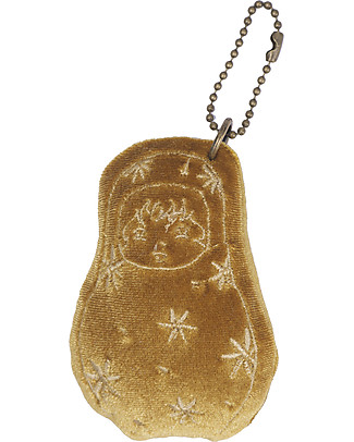 Numero 74 Velvet Matrioska Keychain - Gold - Perfect Gift! New Bohemian Collection Party Favours