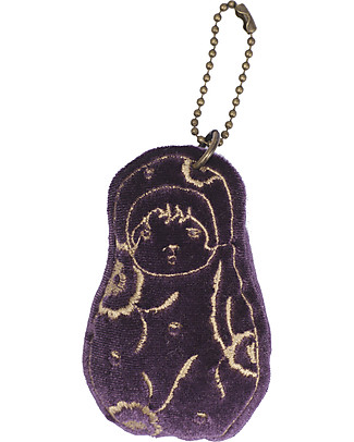 Numero 74 Velvet Matrioska Keychain - Sweet Aubergine - Perfect Gift! New Bohemian Collection Party Favours