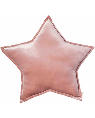 Numero 74 Velvet Star Cushion Medium, Dusty Pink - S007 Cushions