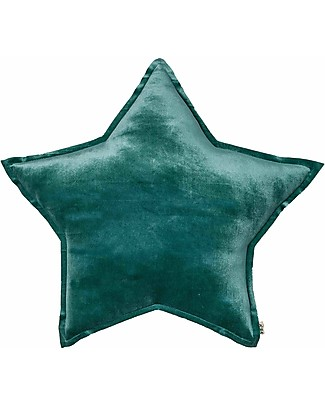 Numero 74 Velvet Star Cushion Medium, Teal Blue Cushions