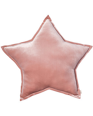 Numero 74 Velvet Star Cushion Small, Dusty Pink Cushions