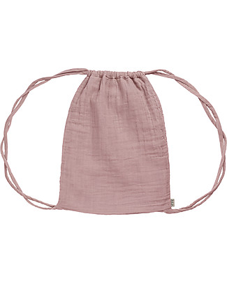 "Numero 74 Waterproof Drawstring Bag ""Nomad Gymsack"", Dusty Pink - Organic cotton Small Backpacks"