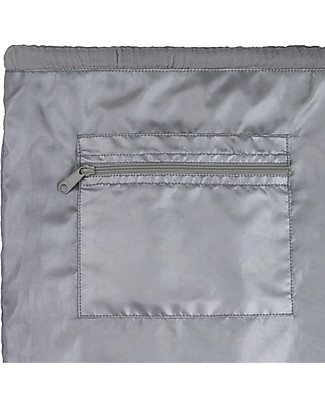 "Numero 74 Waterproof Drawstring Bag ""Nomad Gymsack"", Stone Grey - Organic cotton Small Backpacks"