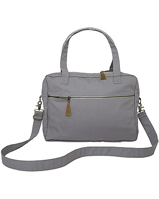 Numero 74 Waterproof Multipurpose Bag, Stone Grey - Organic cotton Large Backpacks