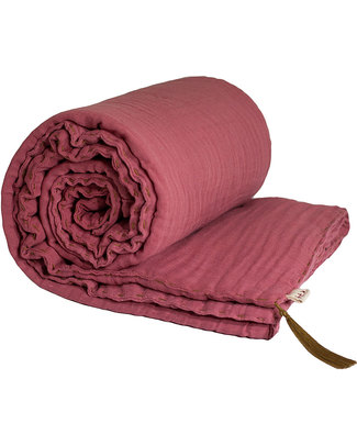 Numero 74 Winter Blanket Rose - 110 x 160 - Double Cotton Muslin Blankets