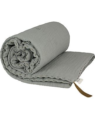 Numero 74 Winter Blanket, Silver Grey - 140 x 190 cm - Double Cotton Muslin Blankets