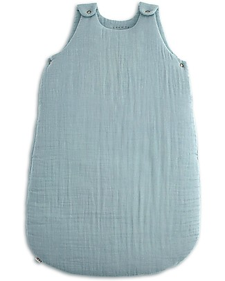 Numero 74 Winter Sleeping Bag 6-12 months, Sweet Blue - 100% Cotton Light Sleeping Bags