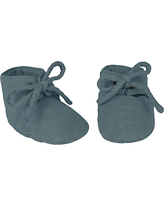 Numero 74 Yoghi Baby Slippers, Ice Blue - 100% organic cotton Shoes