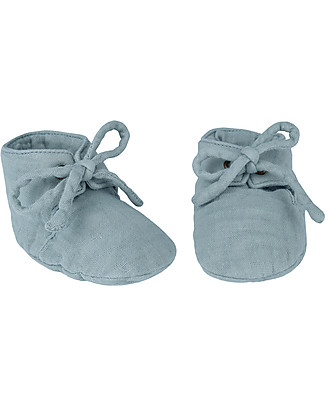 Numero 74 Yoghi Baby Slippers, Sweet Blue - Organic cotton Shoes