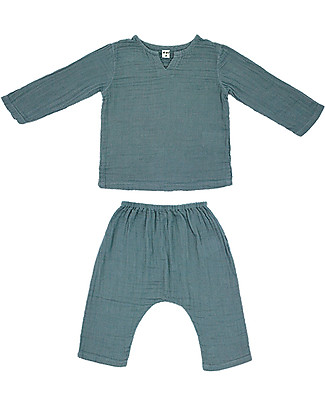 Numero 74 Zac Shirt + Pants Suit, Ice Blue - 100% cotton Special Occasion