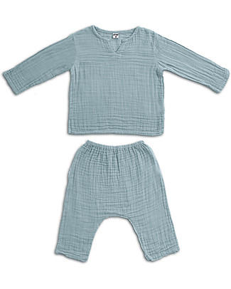 Numero 74 Zac Shirt + Pants Suit, Sweet Blue - 100% organic cotton Special Occasion