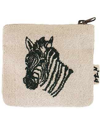 Numero 74 Zebra mini purse in cotton - Perfect party favour Party Favours