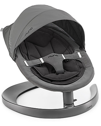 Nuna Canopy for Leaf Chair, Cinder Grey - With integrated insect net! Bouncers
