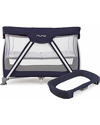 Nuna Changing Mat for SENA™ Travel Cot Navy – quilted in organic cotton Travel Changing Mats