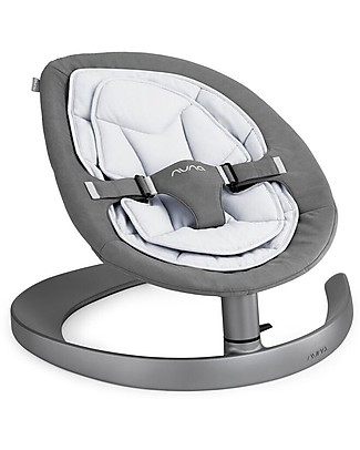 Nuna Curv Rocking Seat, French Gray - Organic Cotton Quilting Quiet and Natural! Chairs