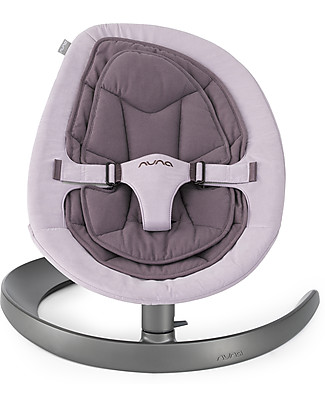 Nuna LEAF™  Curv Rocking Seat Grape - Organic Cotton Quilting Quiet and Natural! Chairs
