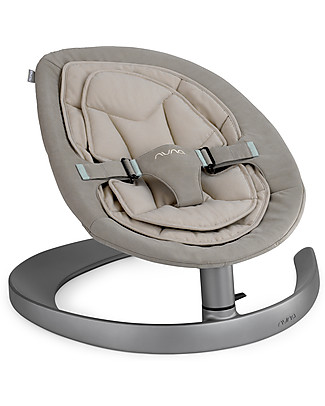Nuna LEAF™  Curv Rocking Seat Mink - Organic Cotton Quilting Quiet and Natural! Chairs