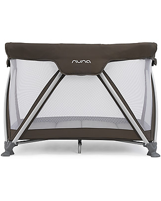 Nuna SENA™ Travel Cot -  Coffee Easy to Open & Close!  Travel Cots