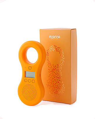 Ocarina Ocarina Baby/Kids MP3 Player 4GB - Orange (with built-in speaker) - New Model! with 41 Tracks - MADE IN ITALY Mp3 Players