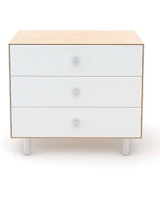 Oeuf Classic Merlin 3 Draw Dresser White & Birch Dressers