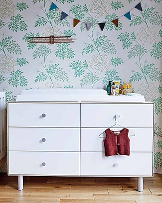 Oeuf Classic Merlin 6 Draw Dresser (in white / birch) Dressers